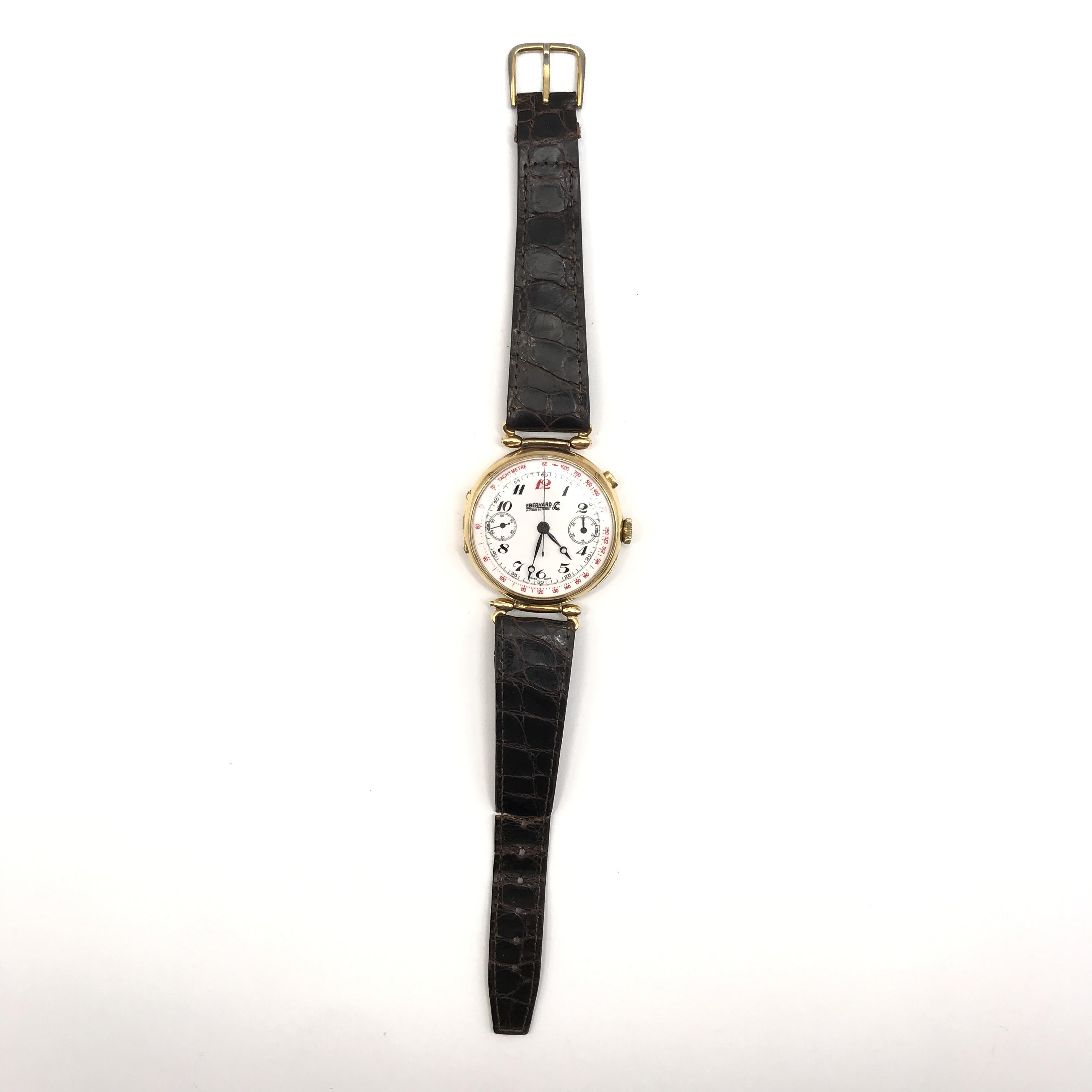 cronografo in oro 18kt, 1930 circa