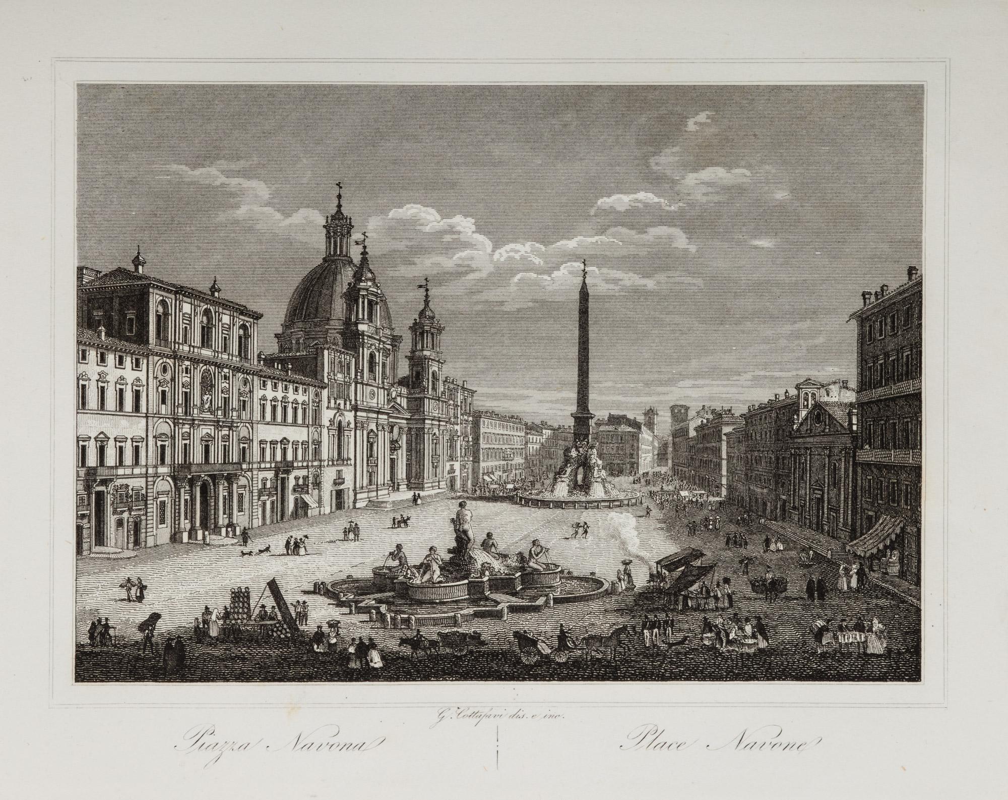 Nuova raccolta di n. 46 vedute principali di Roma … da piu' rinomati artisti di questa capitale
