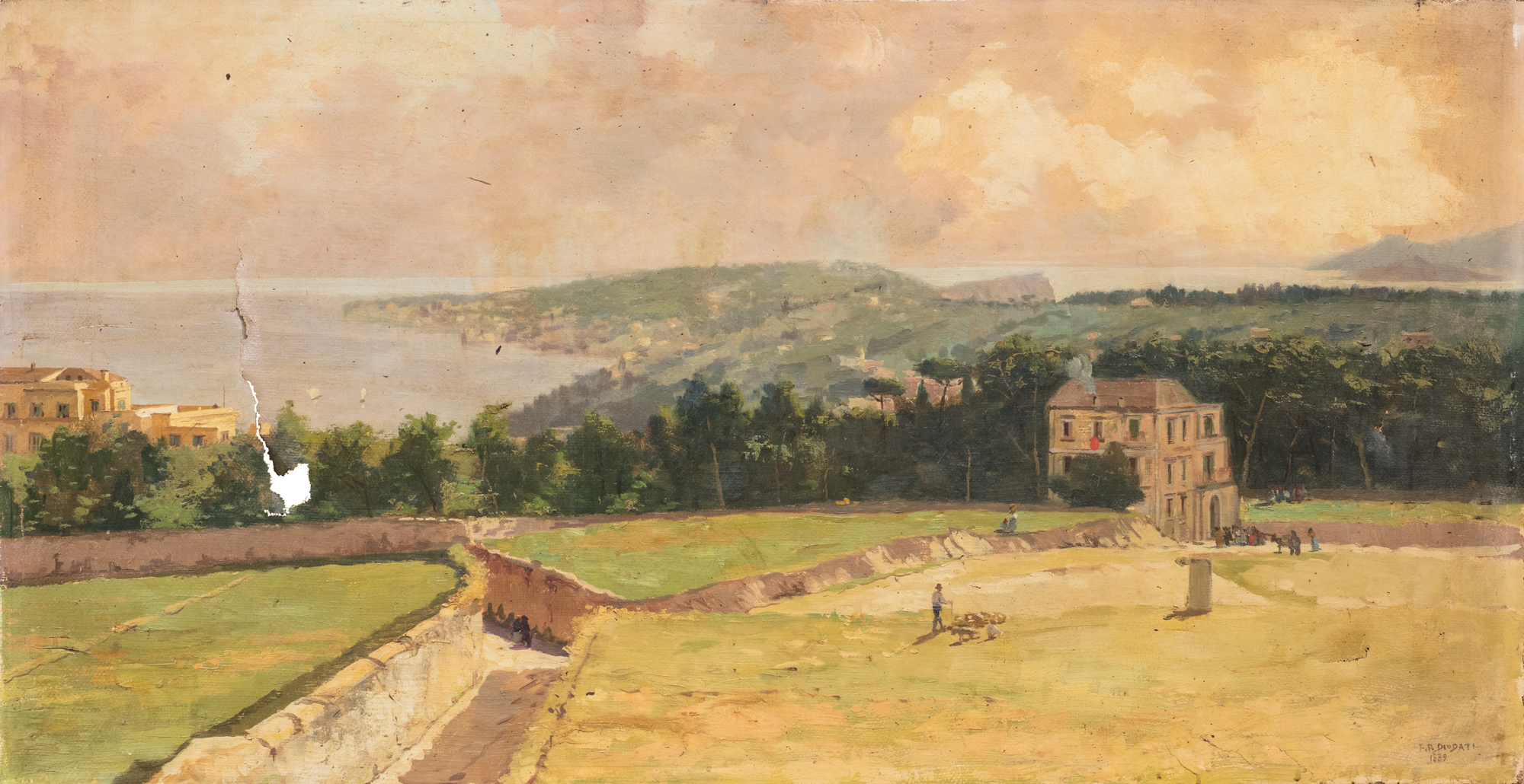 Napoli, veduta del Vomero, 1889