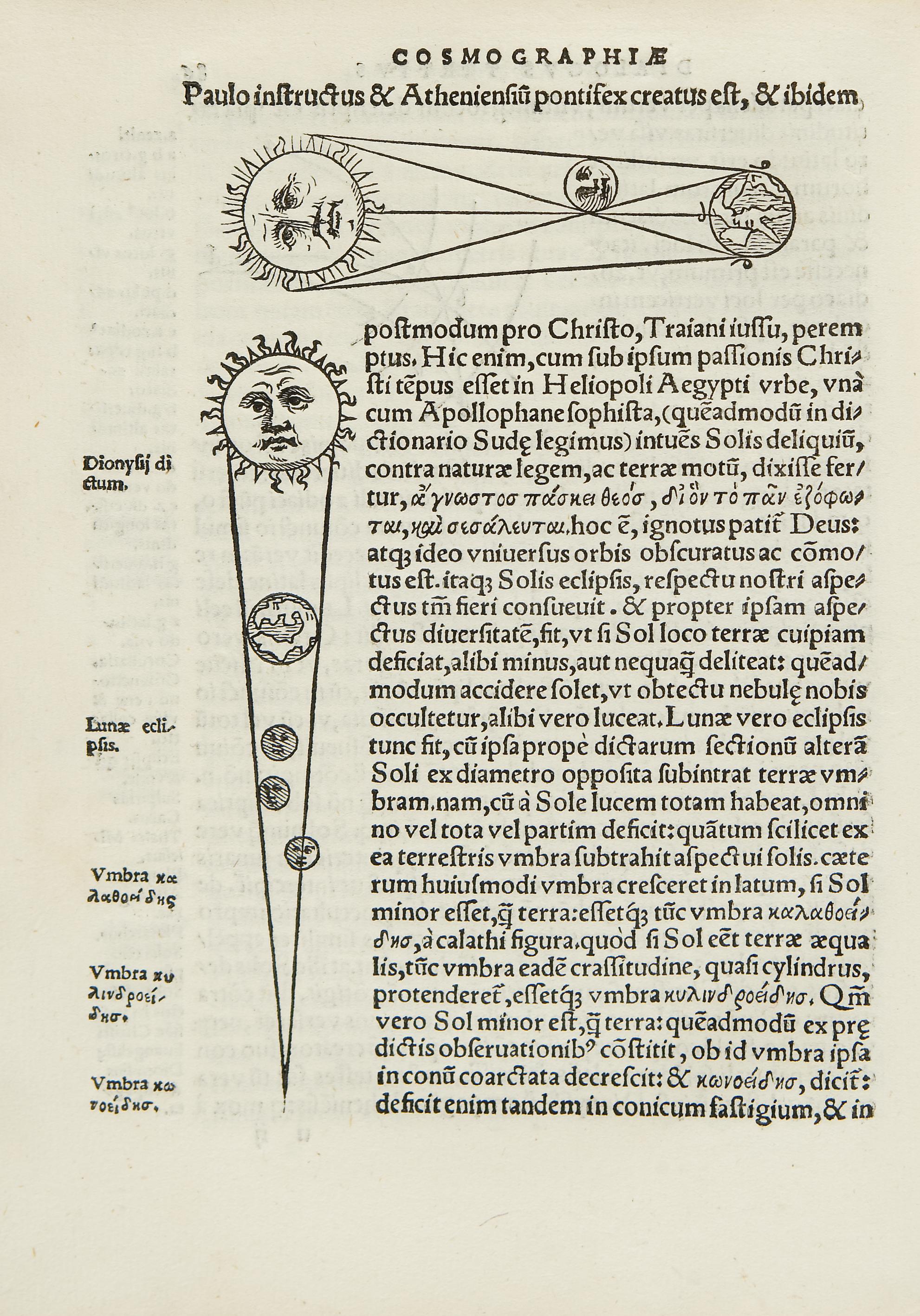 Cosmographia … in tres dialogos distincta: in quibus de forma, situ, numeroque tam coelorum quam elementorum aliisque rebus ad astronomica rudimenta spectantibus satis differitur.