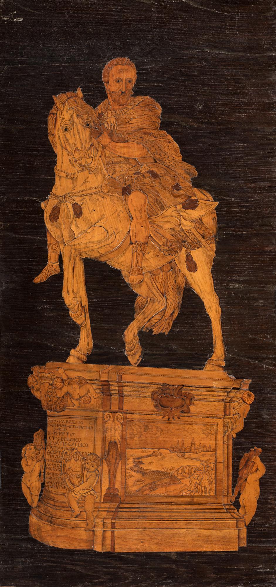 Pannello in legno intarsiato