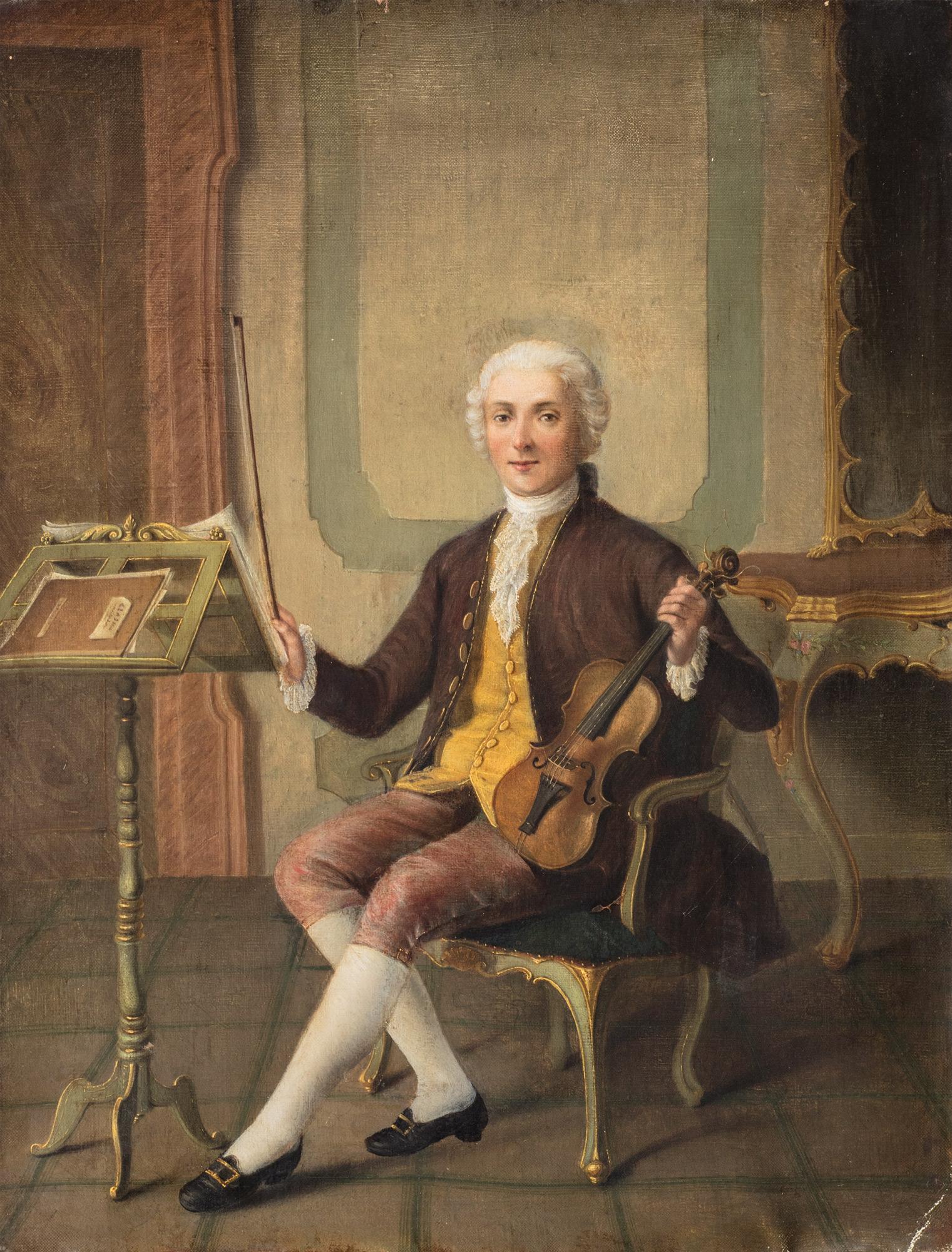 Ritratto di violinista in un interno