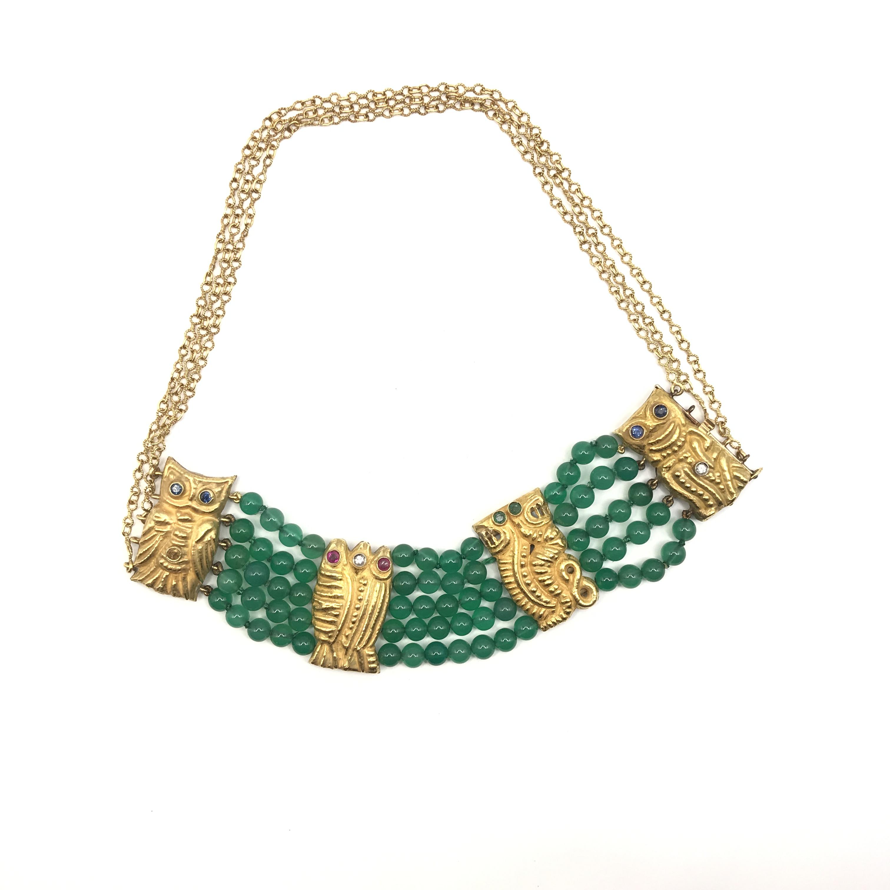 in oro 18kt, rubini, zaffiri, smeraldi, diamanti e crisoprasio