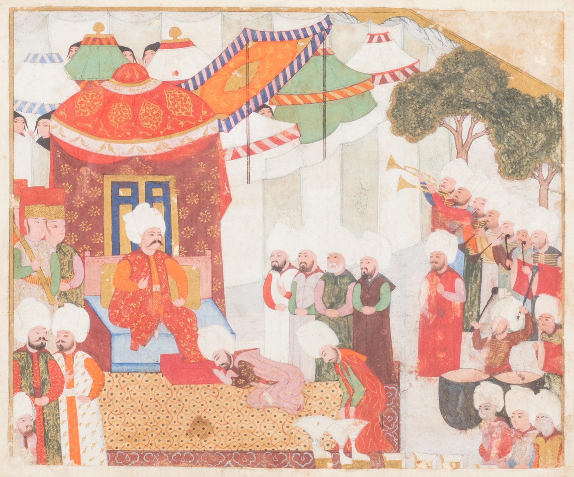 Due miniature mediorientali, secoli XVIII – XIX