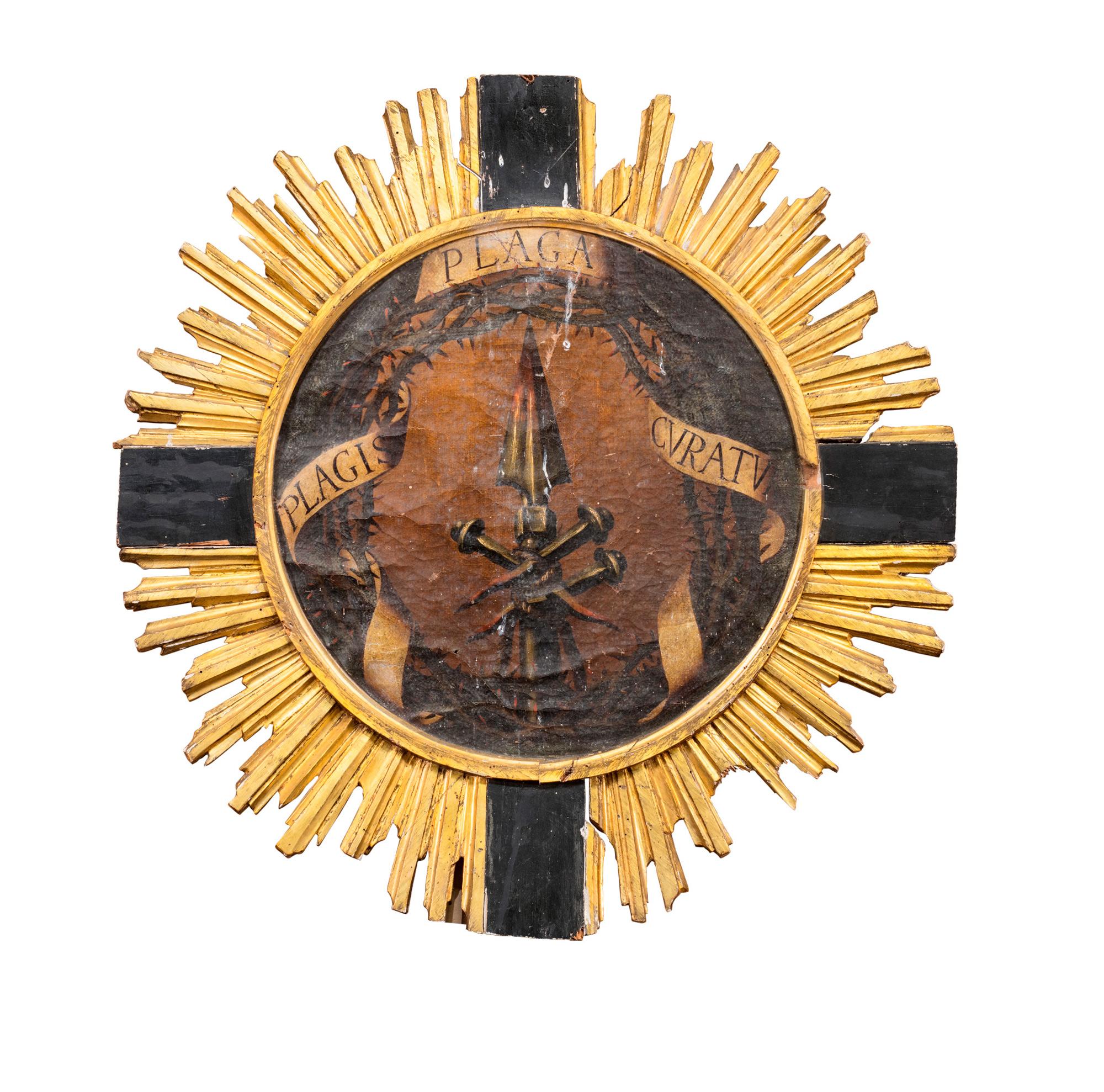 Visione di san Filippo Neri (recto); e Simboli della Passione con motto Plagis Plaga Cvratvm (verso)