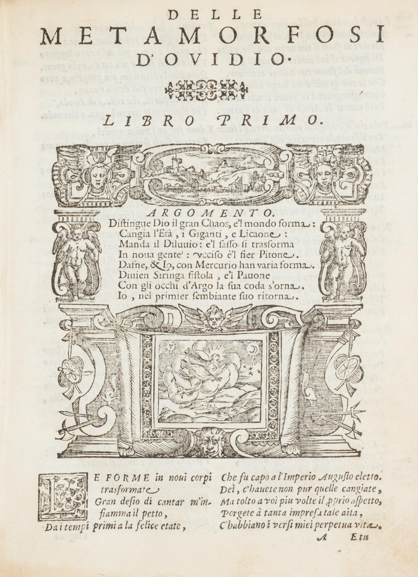Le metamorfosi di Ovidio, ridotte da Gio. andrea dall'Anguillara, in ottava rima.