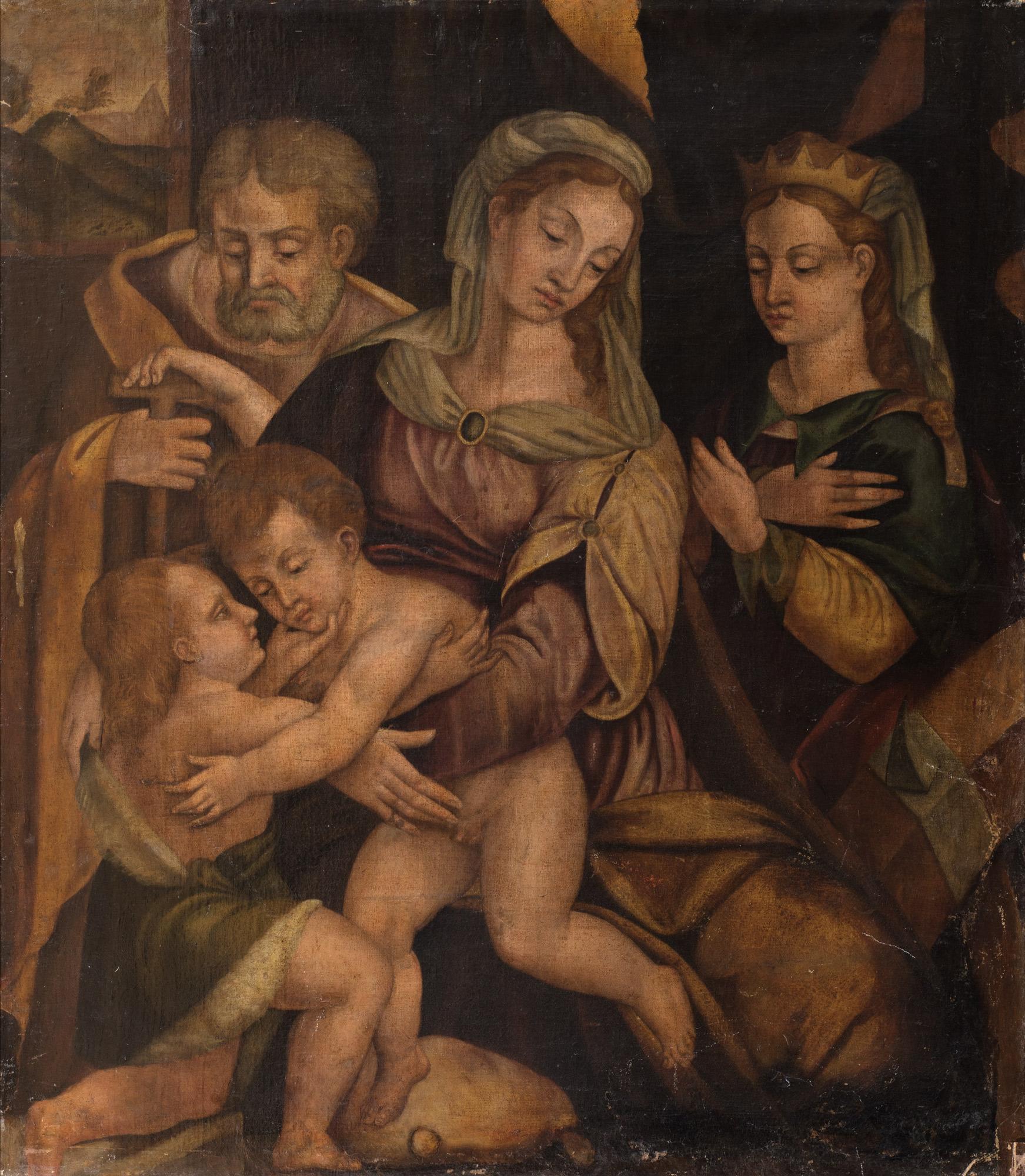 Sacra Famiglia con san Giovannino e santa Caterina d'Alessandria