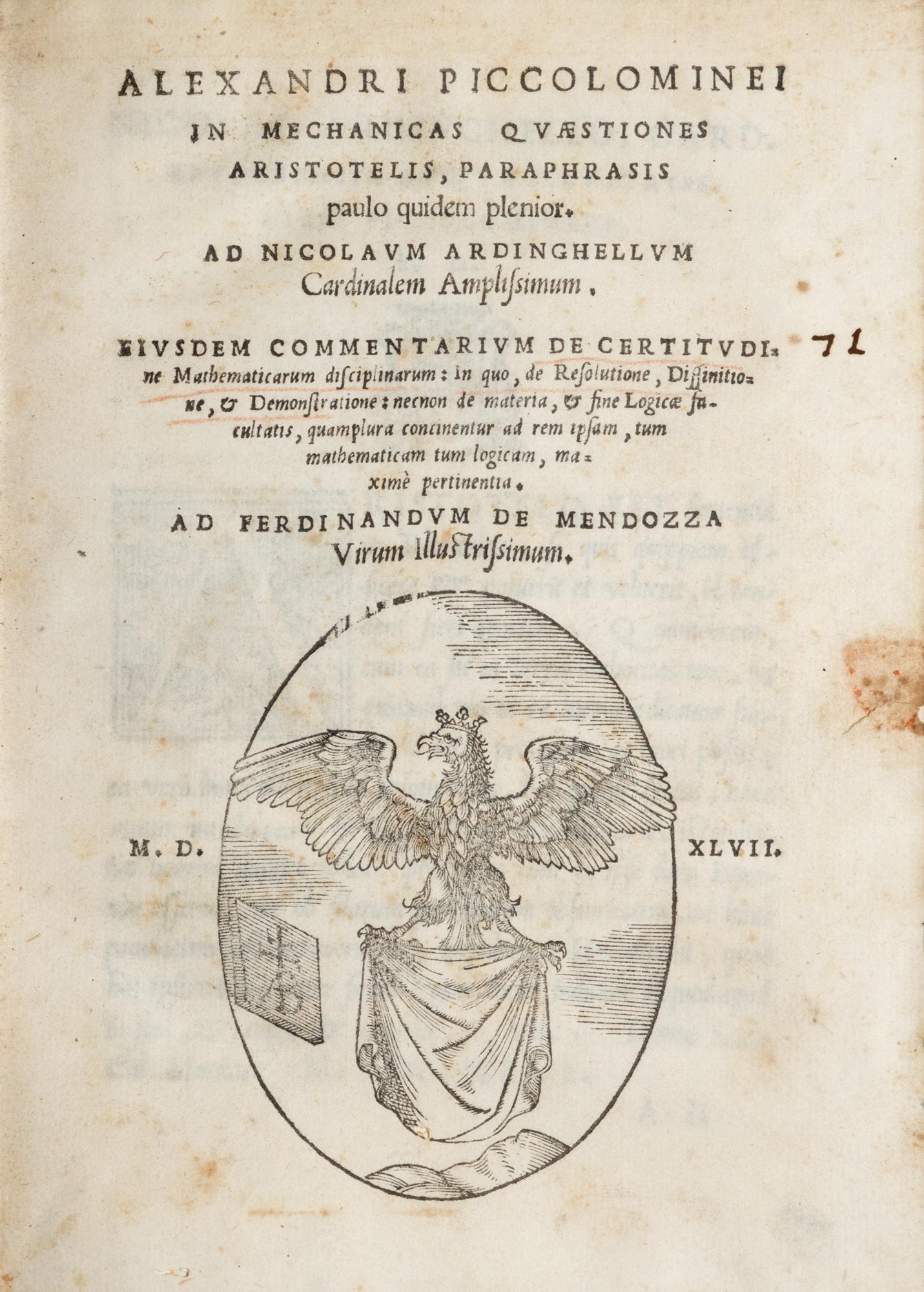 In Mechanicas Quaestiones Aristotelis, Paraphrasis paulo quidem plenior