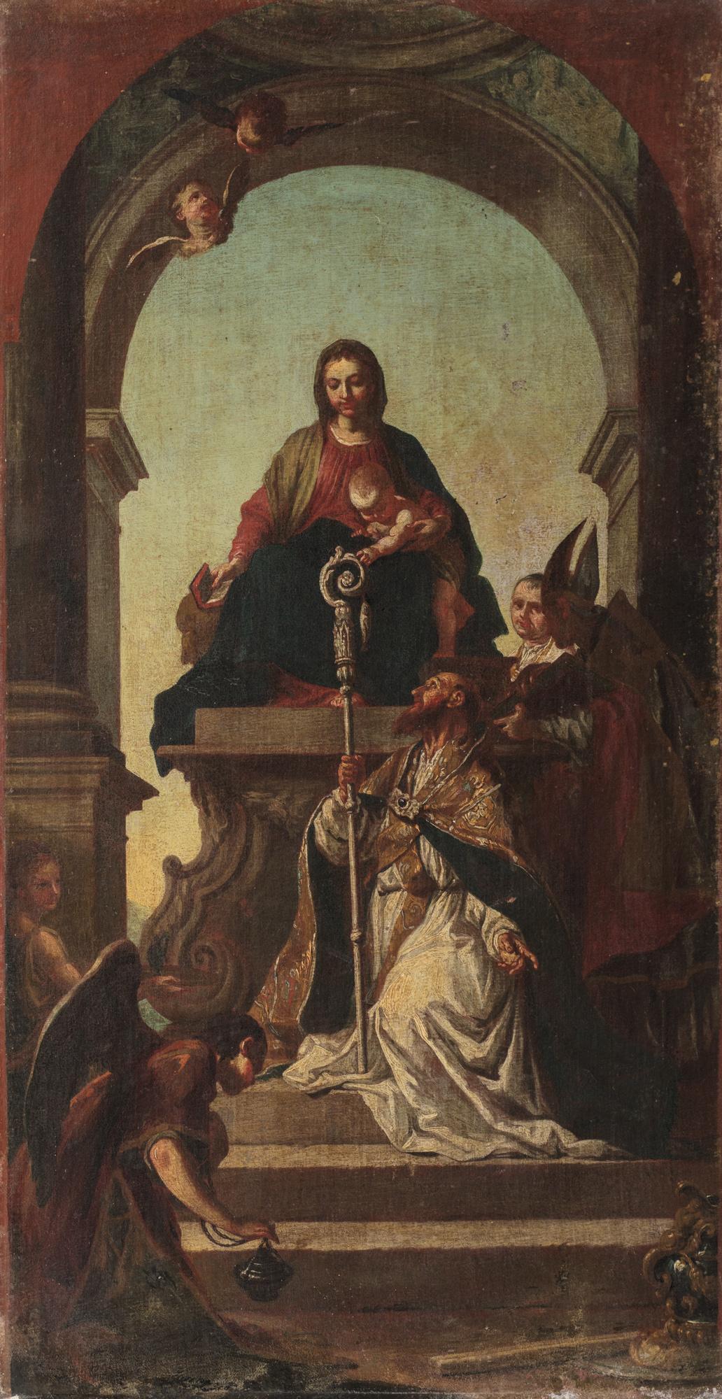Madonna e Bambino in trono con San Zeno