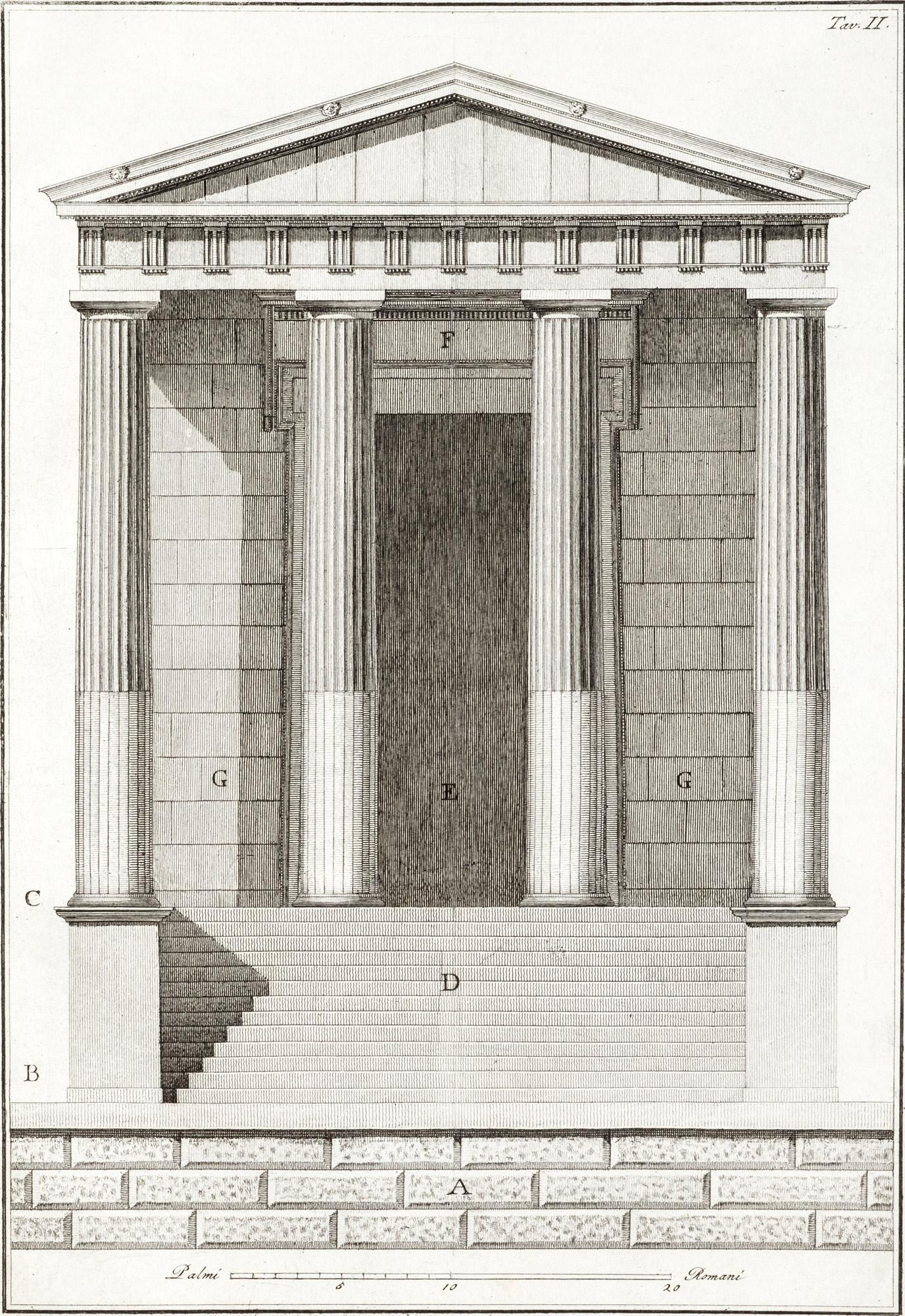 L' ordine dorico ossia Il tempio d'Ercole nella citta di Cori