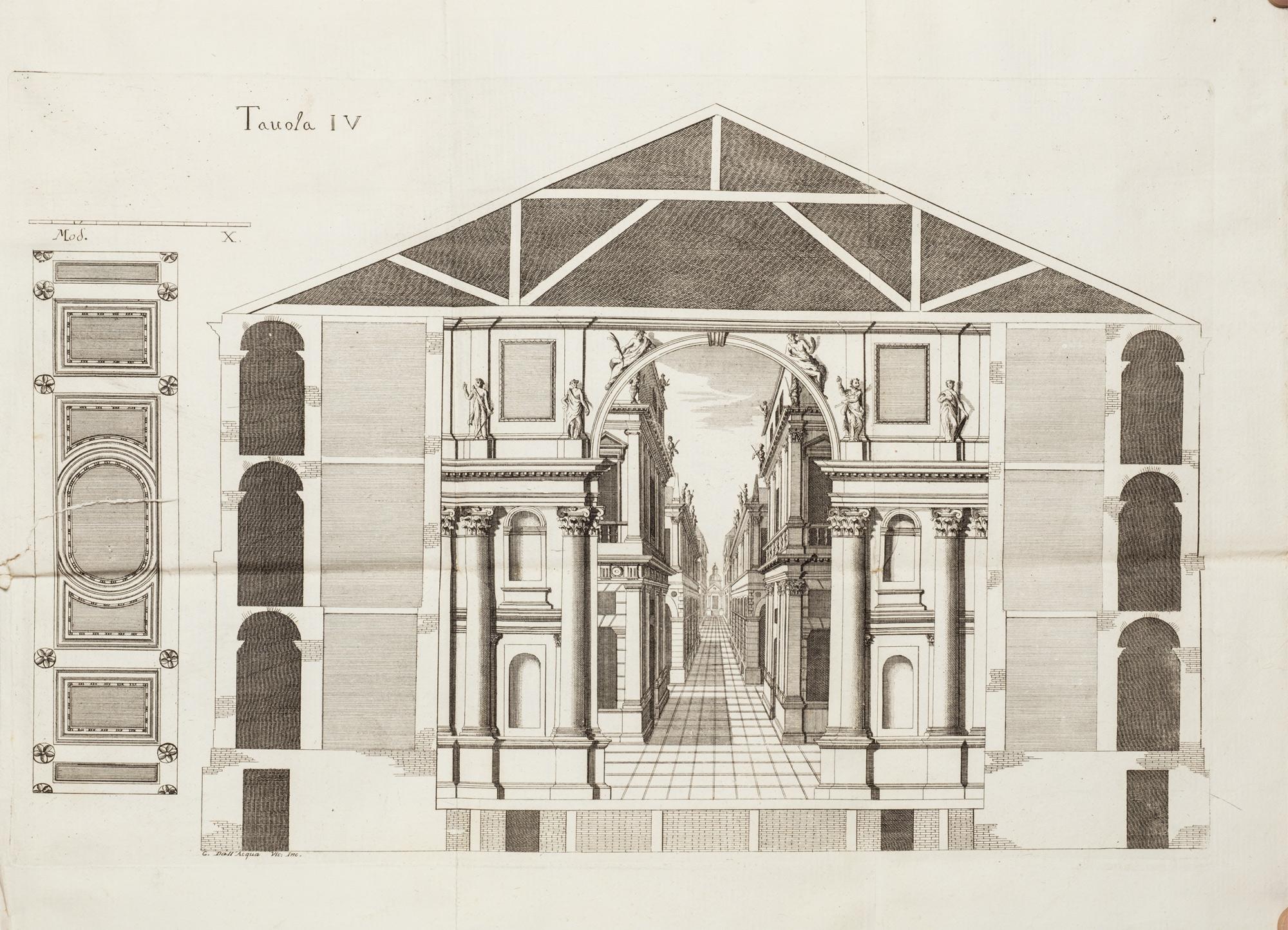 Idea di un teatro nelle principali sue parti simile a' teatri antichi all'uso moderno accomodato