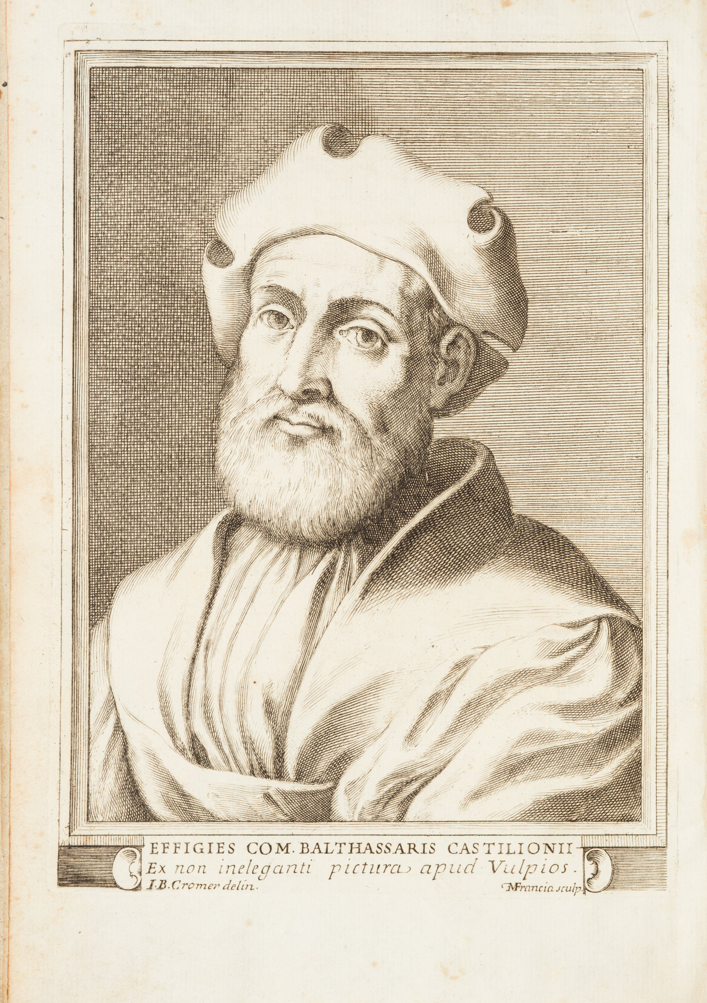 Il libro del Cortegiano del conte Baldessar Castiglione