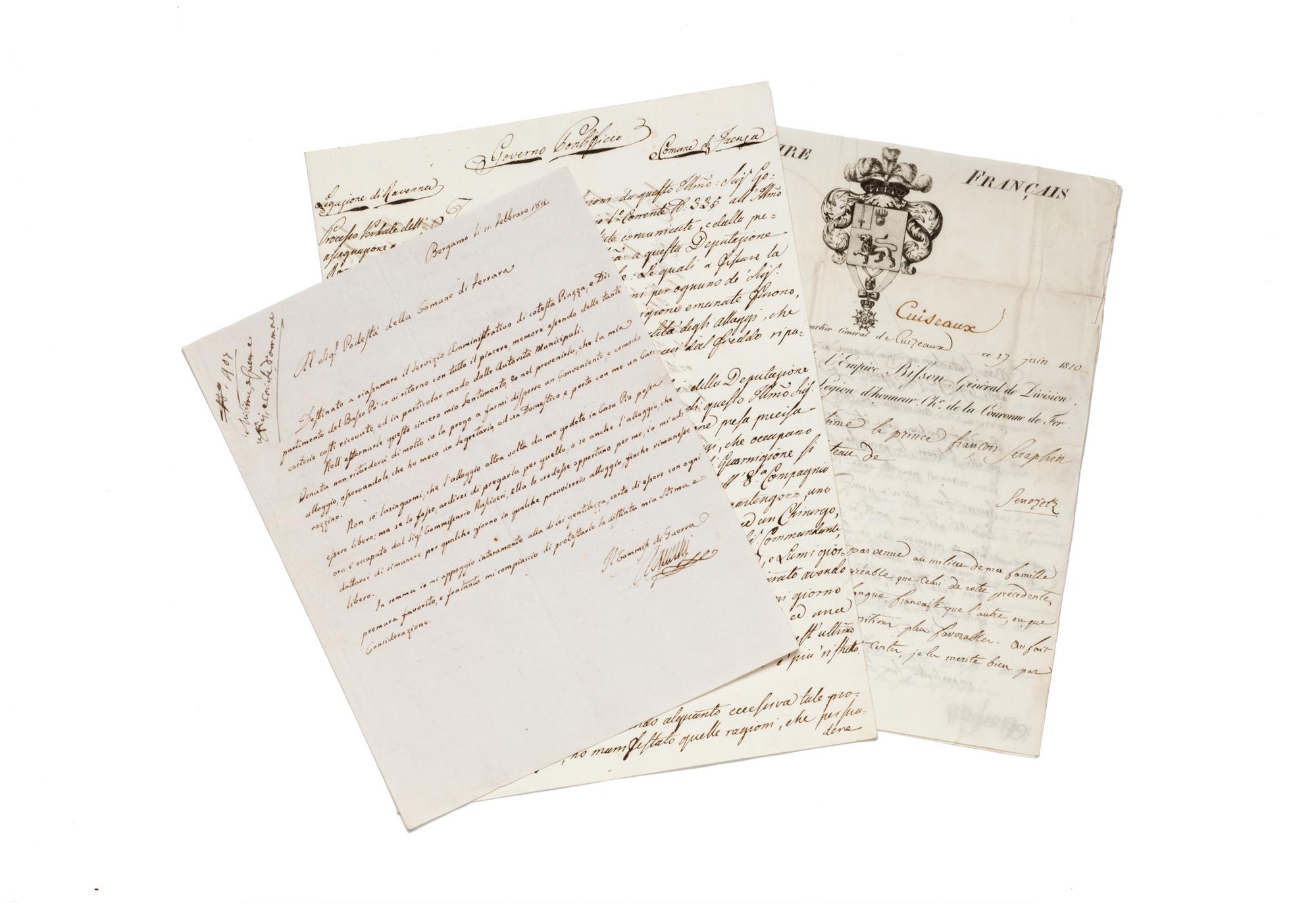 Serie di documenti storici di epoca risorgimentale
