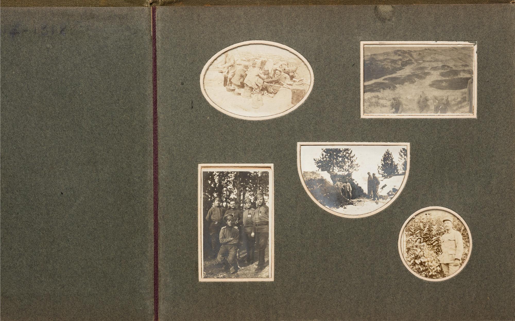 Album di fotografie dal fronte francese