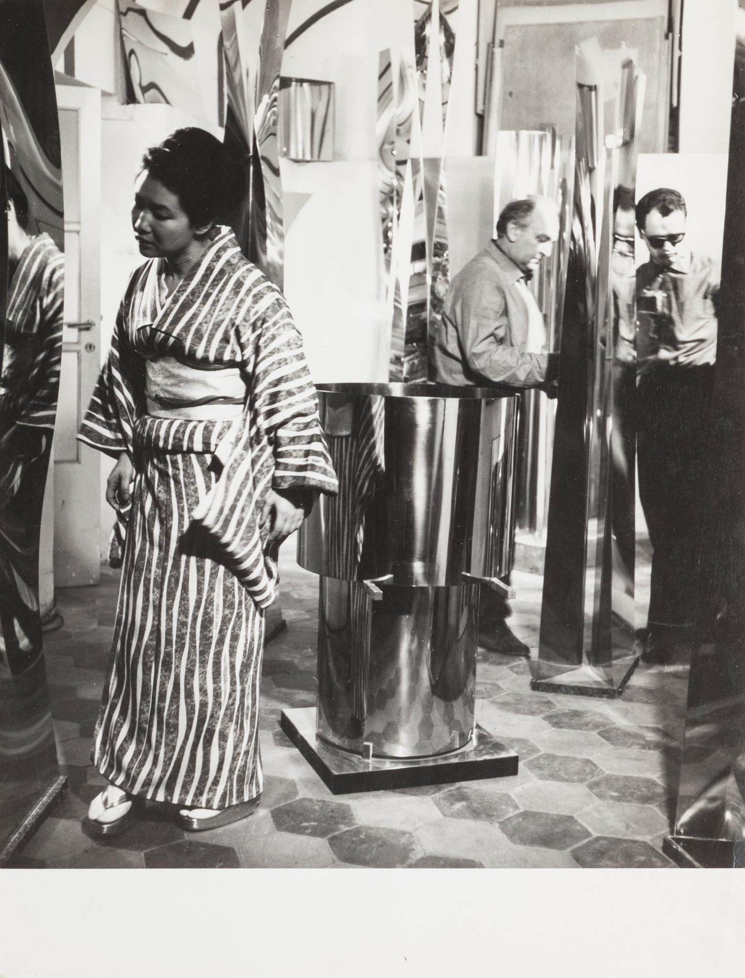 Donna giapponese in kimono