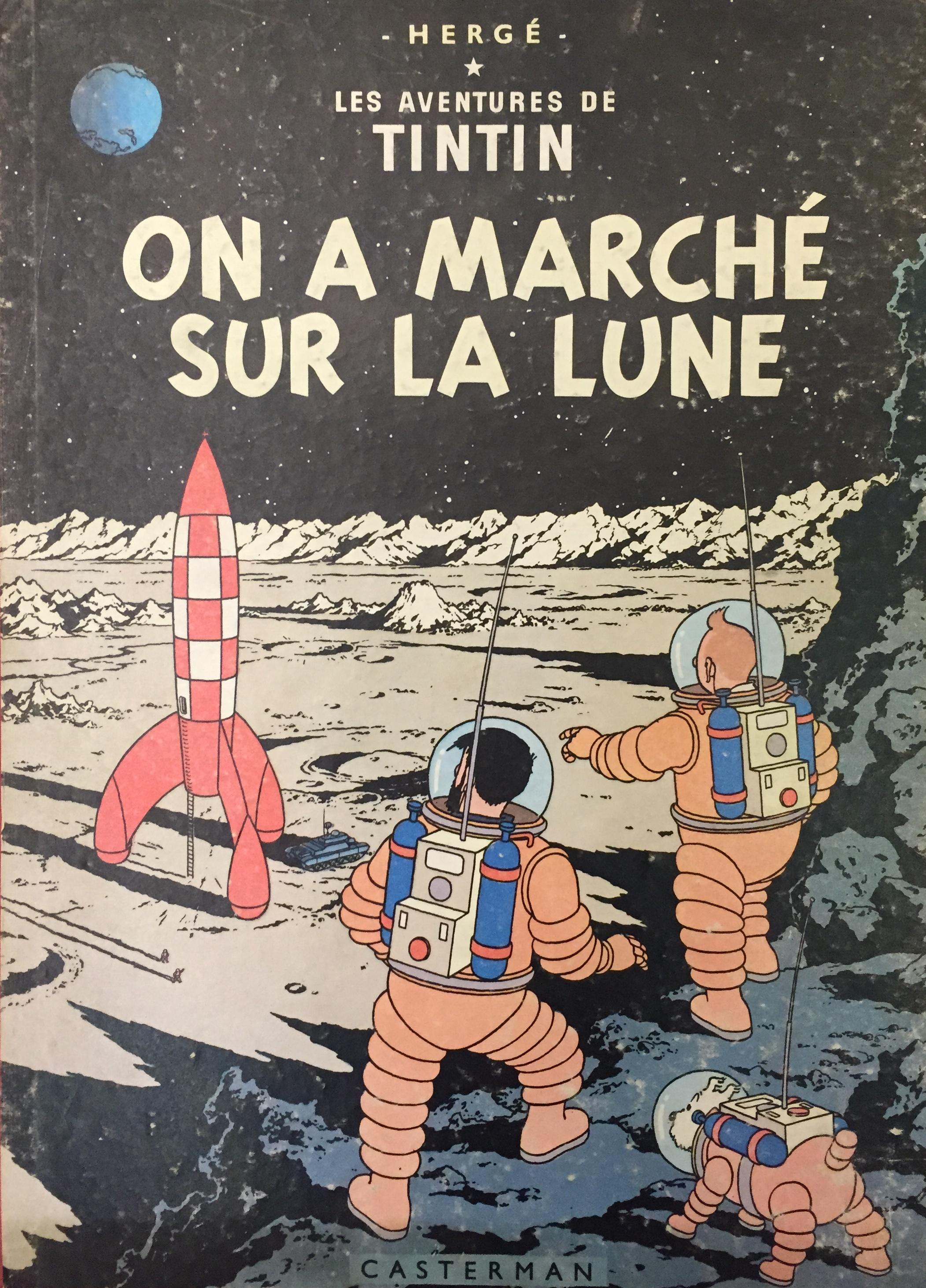 Le aventures de Tintin. On a marché sur la lune